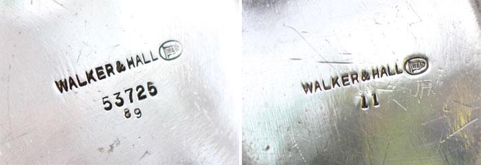 Walker&Hall銀器の刻印