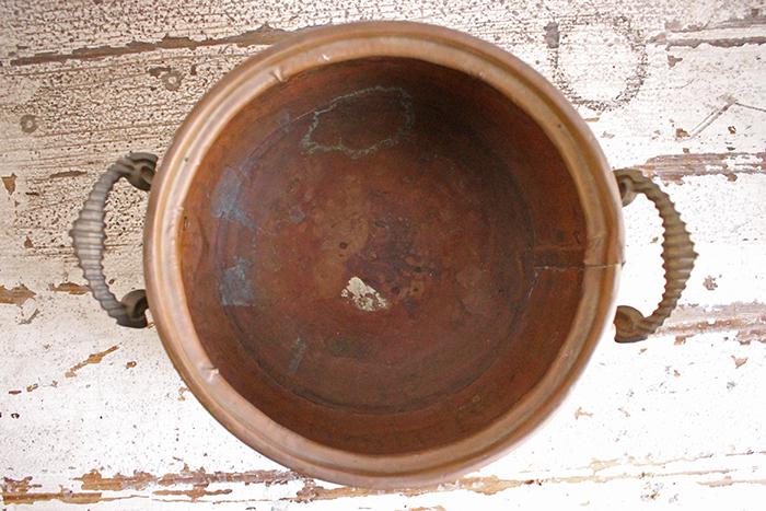 アンティーク銅製鍋の内部状態