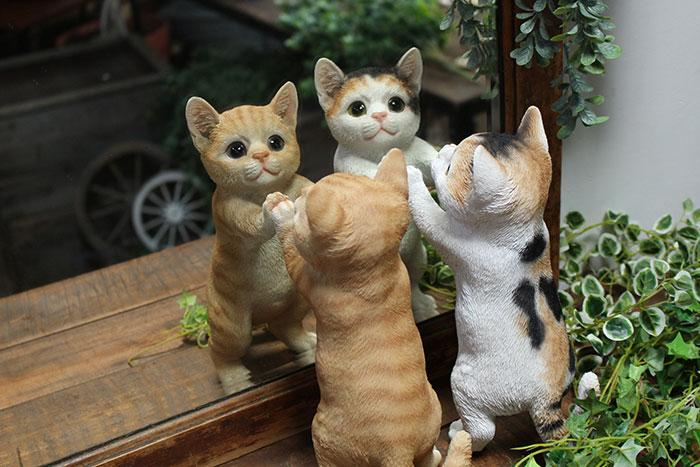 """""""猫のガーデンオブジェ"""""""