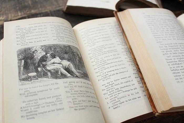1800年代のアンティーク洋書