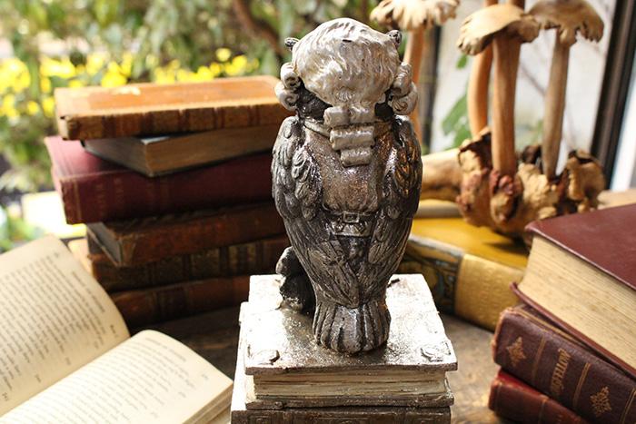 森の賢者フクロウのオブジェ