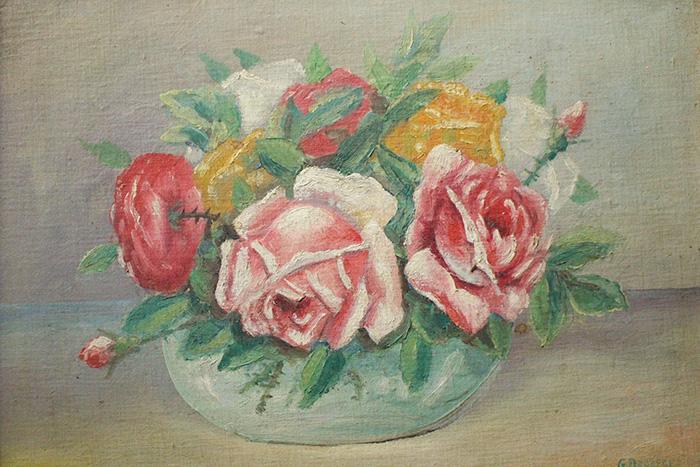 アンティークの油絵