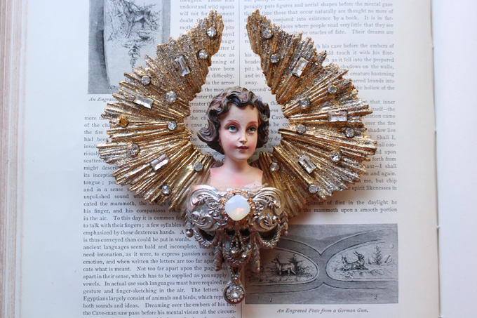 天使モチーフのウォールデコ