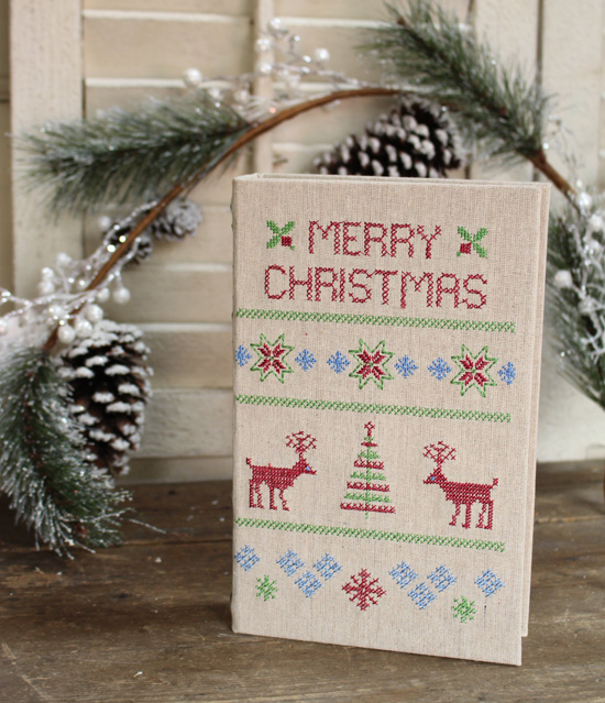 クリスマスデザインのブックボックス