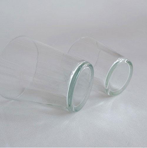 ハンドメイドのリサイクルガラス