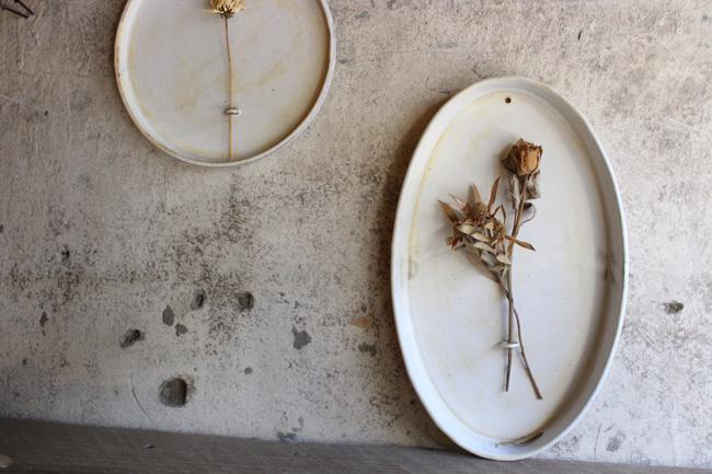 【瀬川辰馬】壁掛け花器(オーバル)