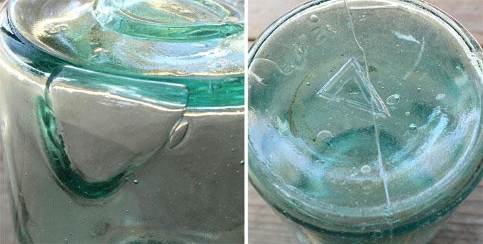 ヴィンテージガラス瓶の詳細