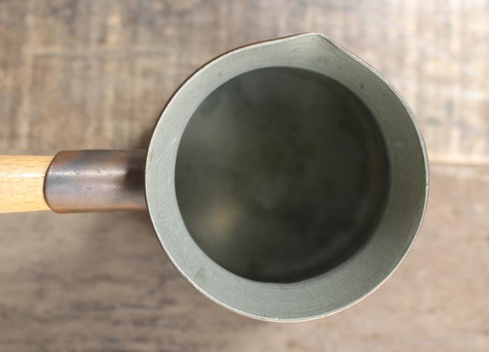 銅製片手鍋の内部状態