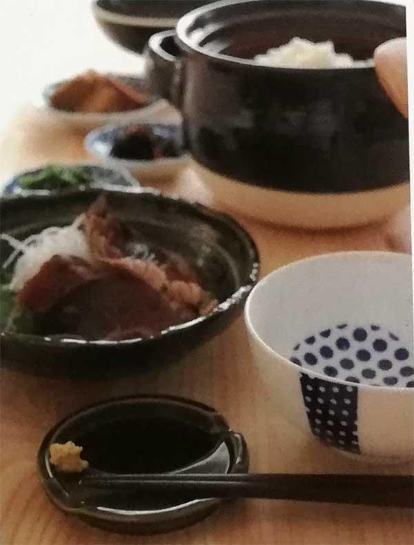 カラフルな陶器の箸おき