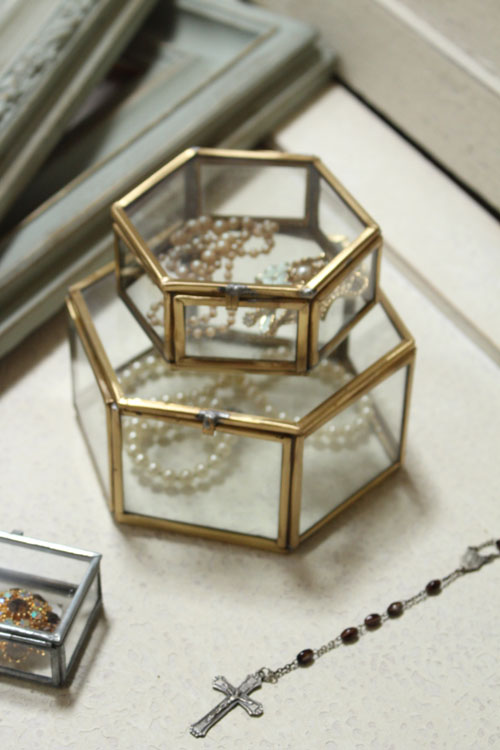 アクセサリーケース ガラス アンティーク