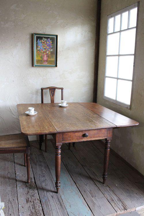 アンティークドロップリーフテーブル