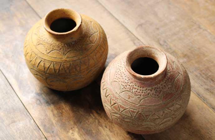 アンティーク素焼き壺