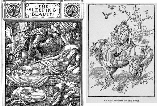 アンティークイラスト「中世の絵葉書」