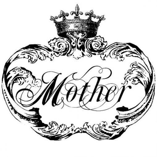 アンティークイラスト「mother」