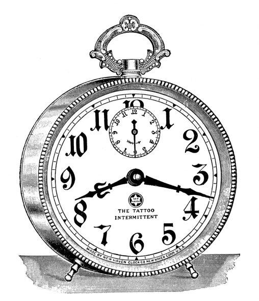アンティークイラスト「時計」