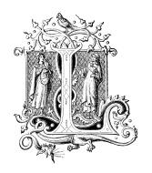 アンティークイラスト「アルファベットL」