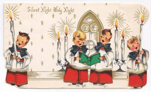 アンティークイラスト「クリスマスカード・子供」