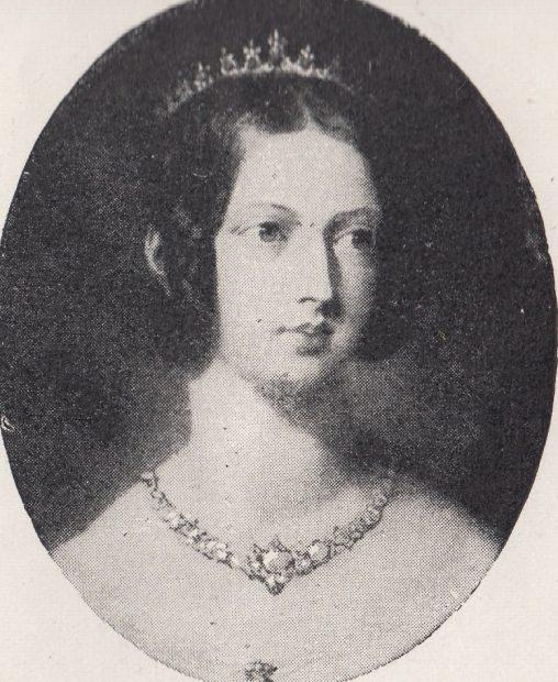 古いビクトリア女王の肖像画イラスト01