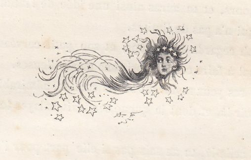 女と星のイラスト