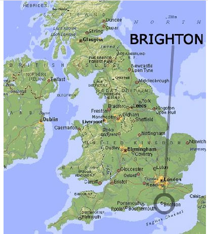 ブライトン地図