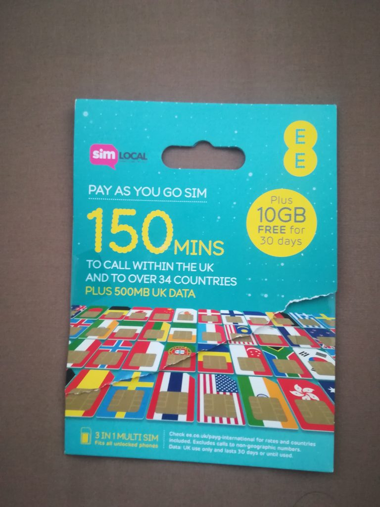 イギリスシムカード10GB
